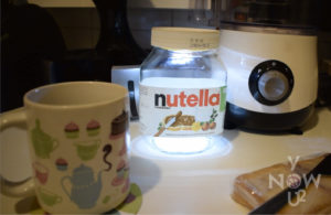 Nutellamp: Lamp and Nutella combination